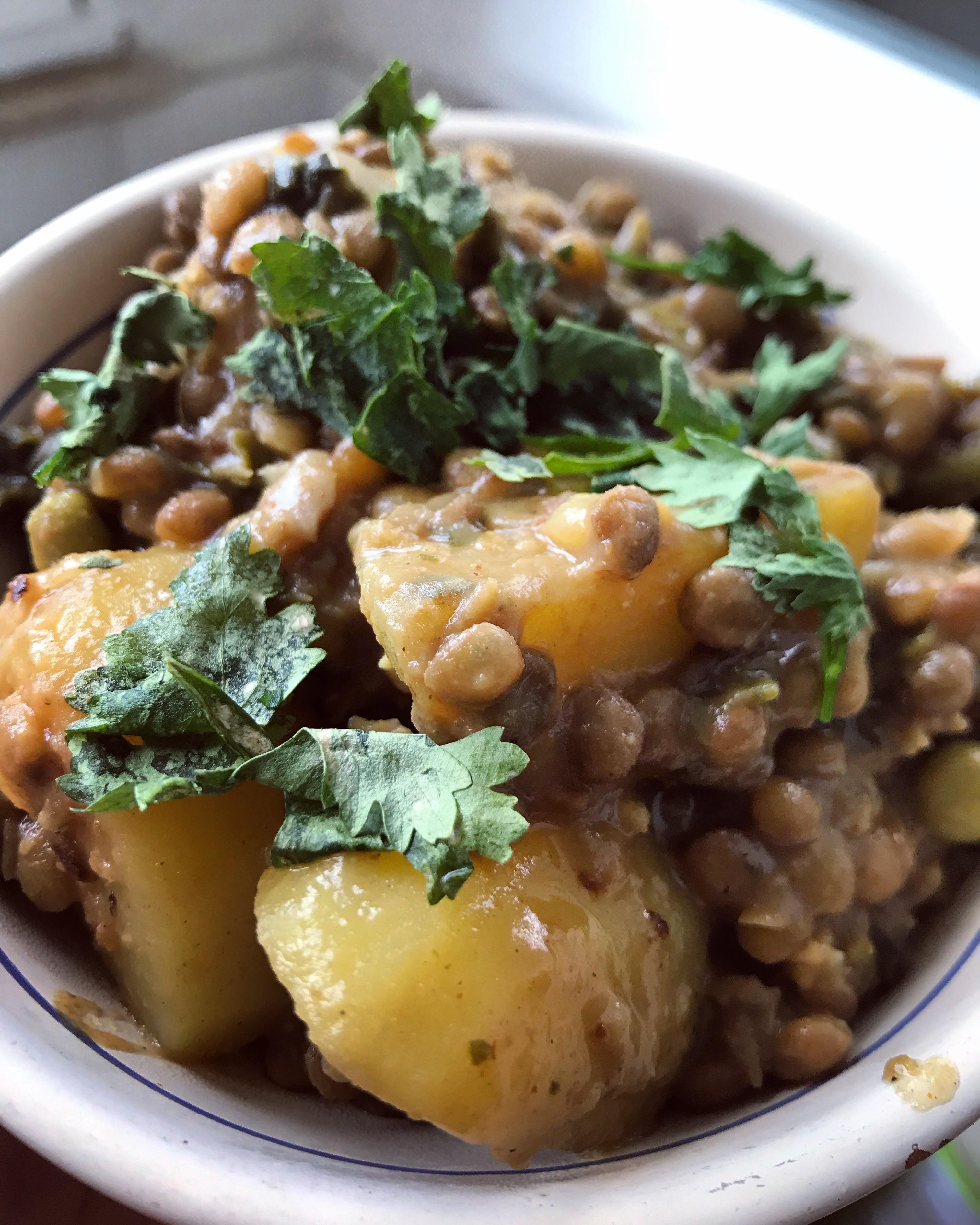 curry, lenticchie, patate, vegan, famiglia, masala, cucina indiana, etnico, mama rainbow, ricetta, sano, veloce, facile, bambini