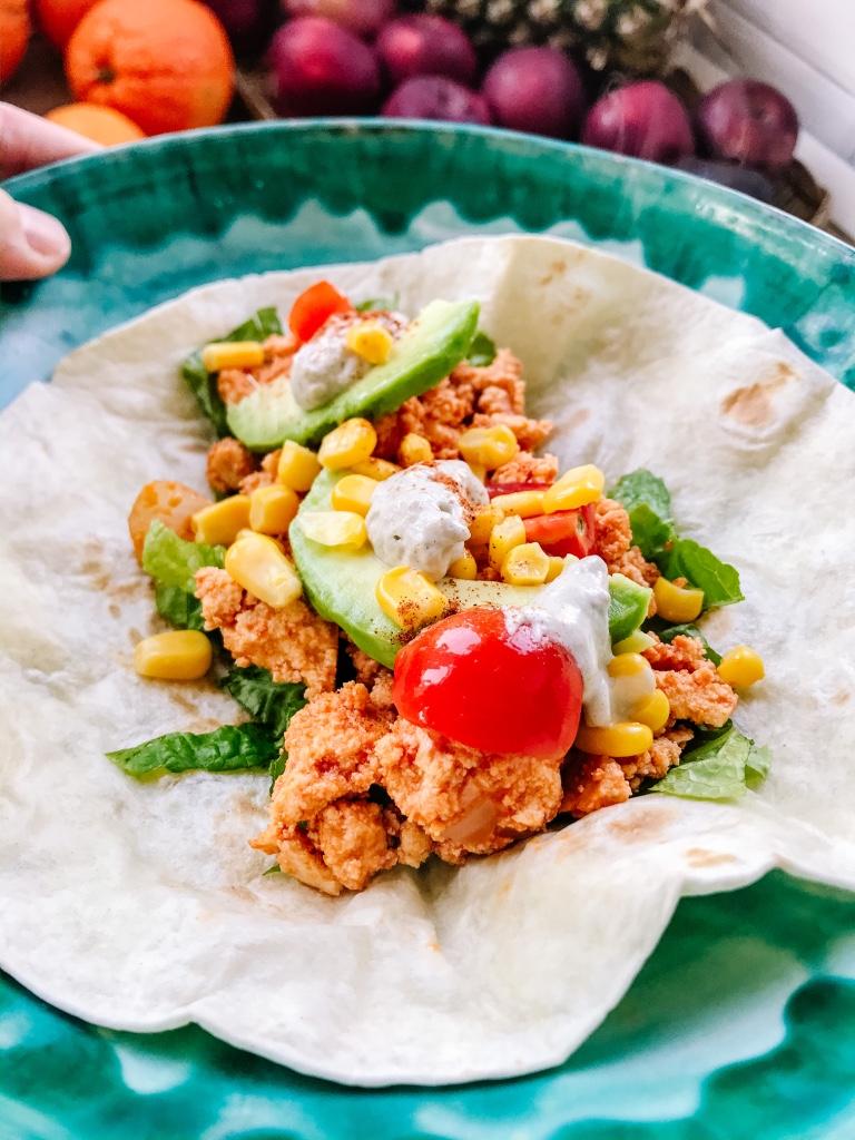 ricetta, vegan, tostadas, cibo etnico, messicano, cibo messicano, sano, famiglia, bambini, mama rainbow, facile, veloce, tofu, proteine, cibo vero,